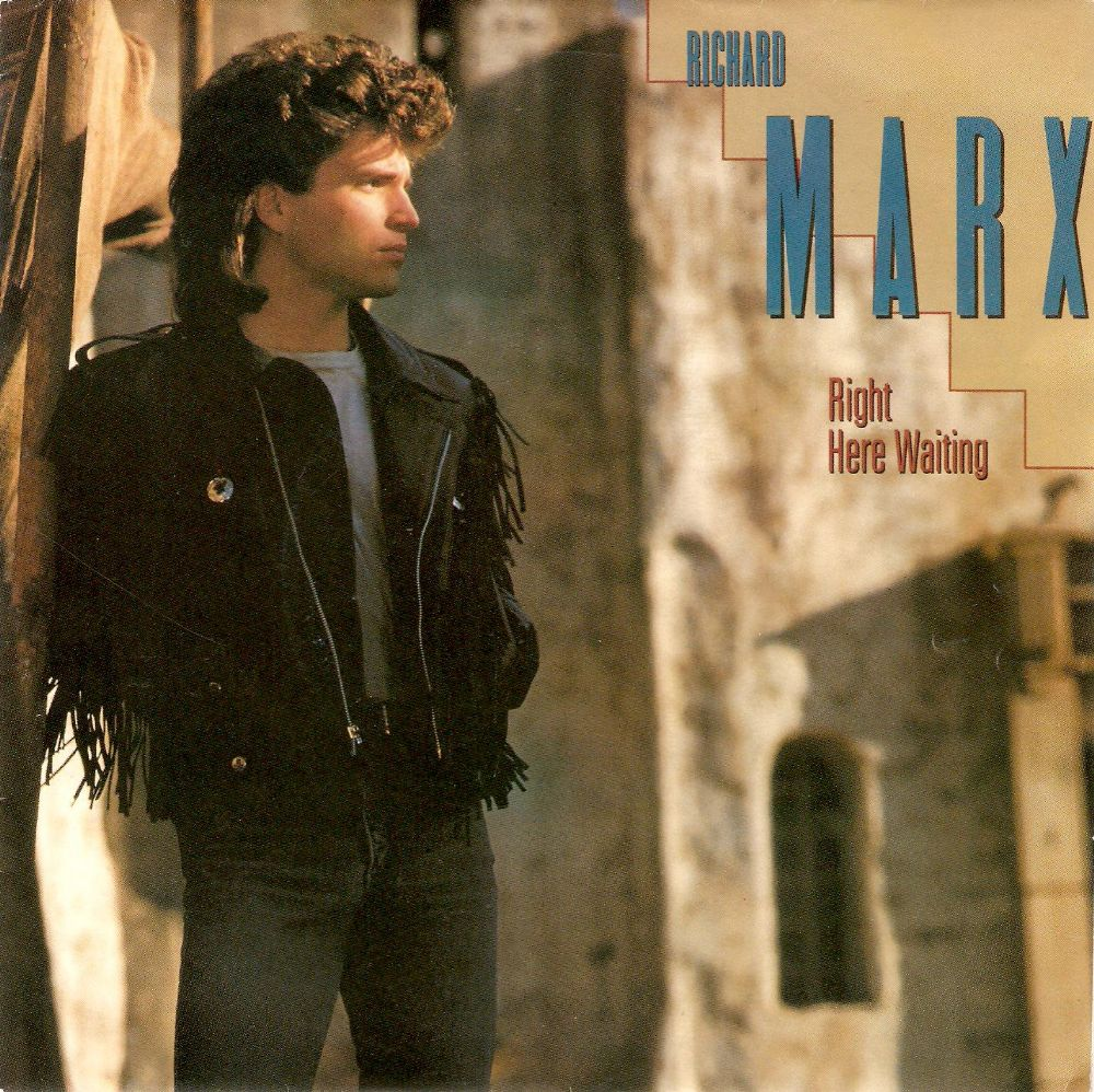 RICHARD MARX Right Here Waiting Vinyl Record 7 Inch EMI USA 1989